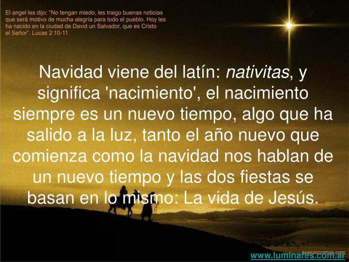Navidad viene del latín: