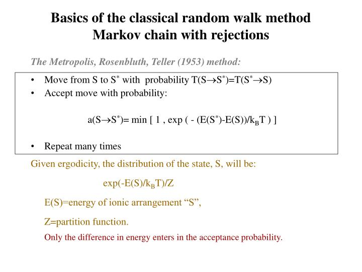 Basics of the classical random walk method