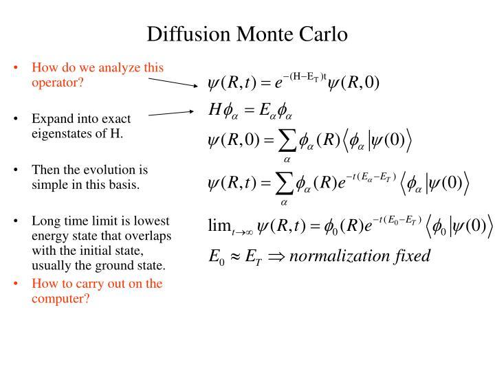 Diffusion Monte Carlo