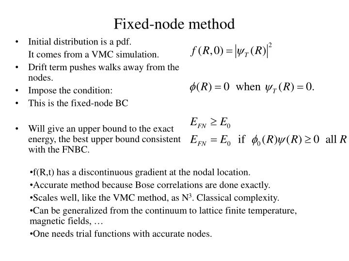 Fixed-node method