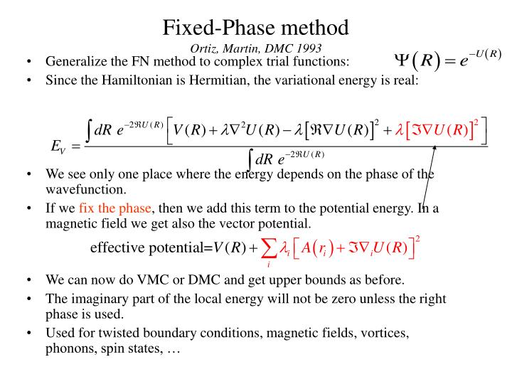 Fixed-Phase method