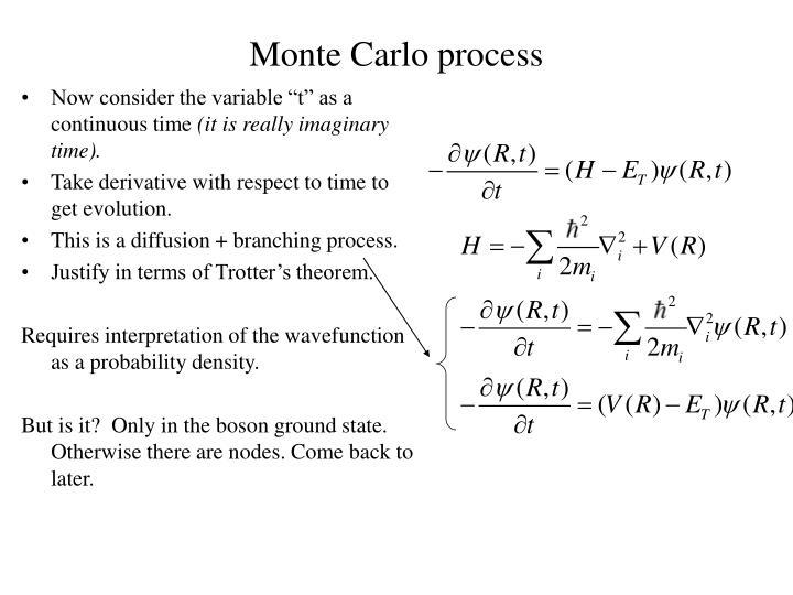 Monte Carlo process