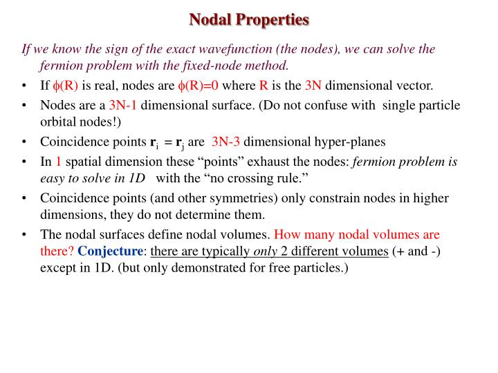 Nodal Properties