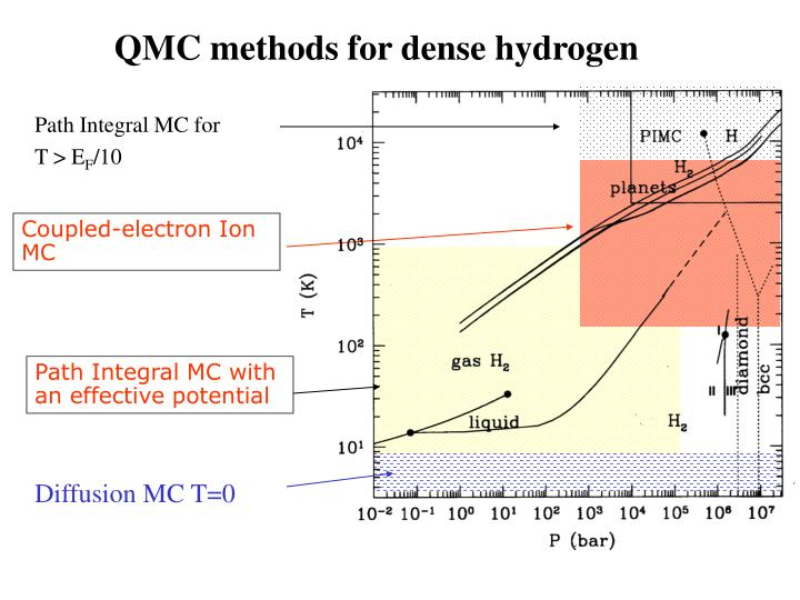 QMC methods for dense hydrogen