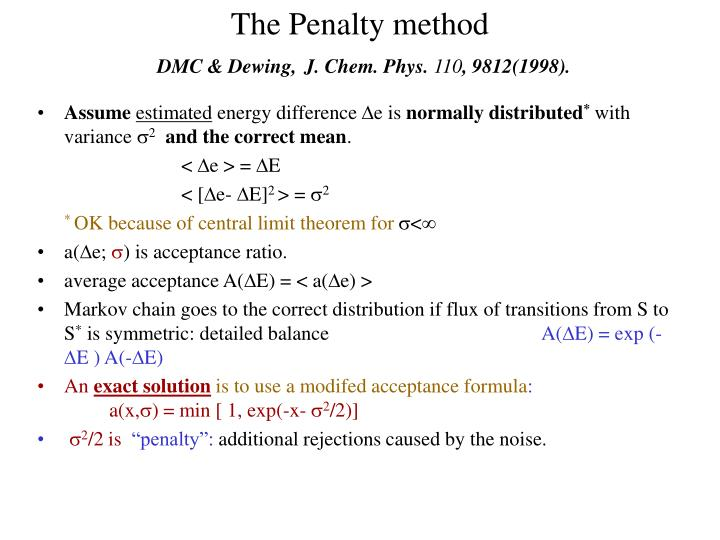 The Penalty method