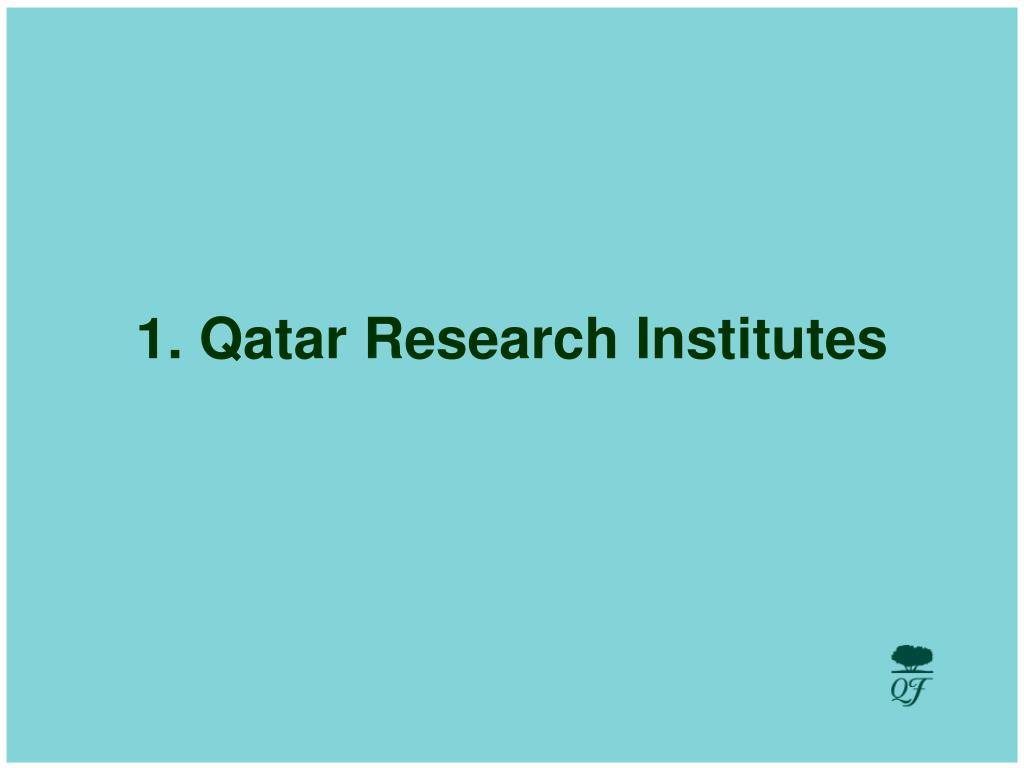 1. Qatar Research Institutes