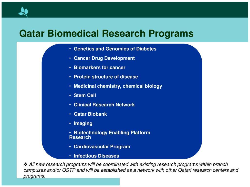 Qatar Biomedical Research Programs