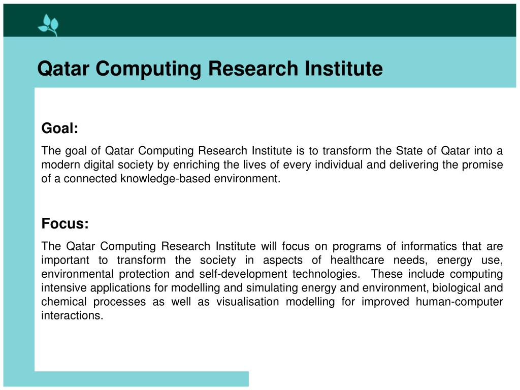 Qatar Computing Research Institute