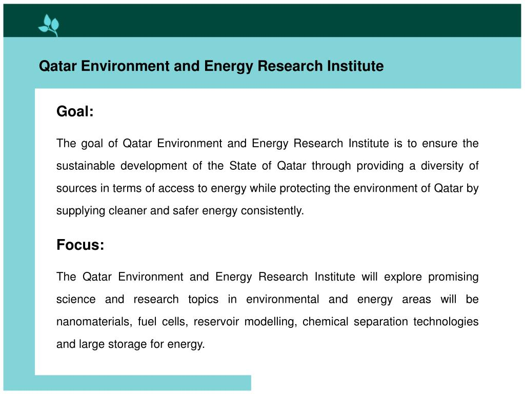 Qatar Environment and Energy Research Institute