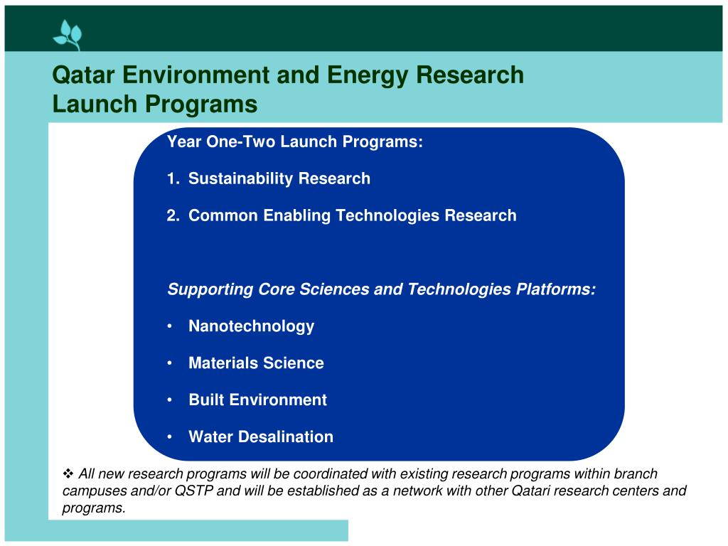 Qatar Environment and Energy Research