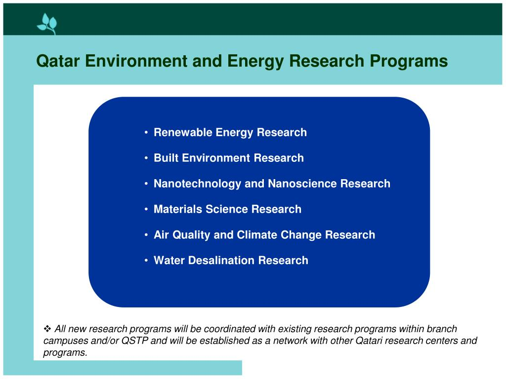 Qatar Environment and Energy Research Programs