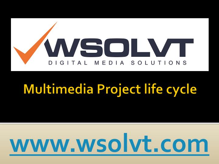 Multimedia project life cycle