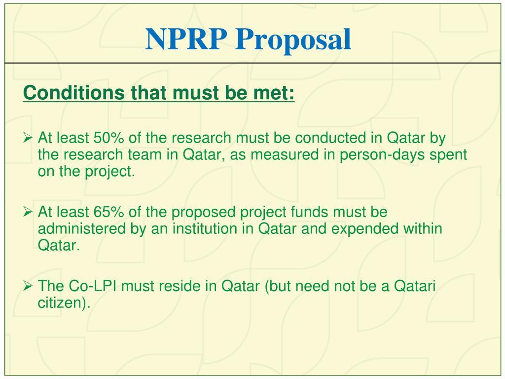 NPRP Proposal