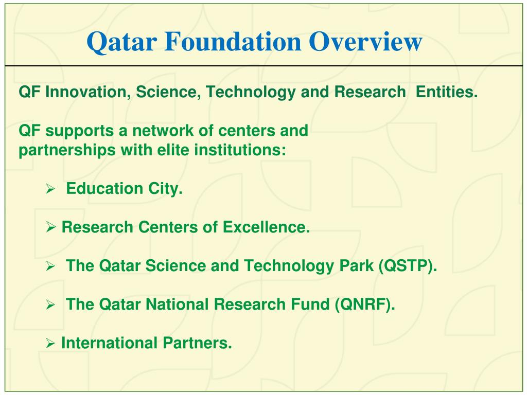 Qatar Foundation Overview