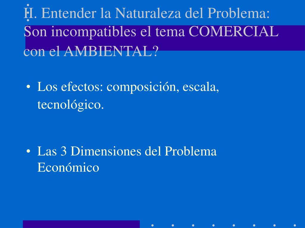 II. Entender la Naturaleza del Problema:   Son incompatibles el tema COMERCIAL con el AMBIENTAL?