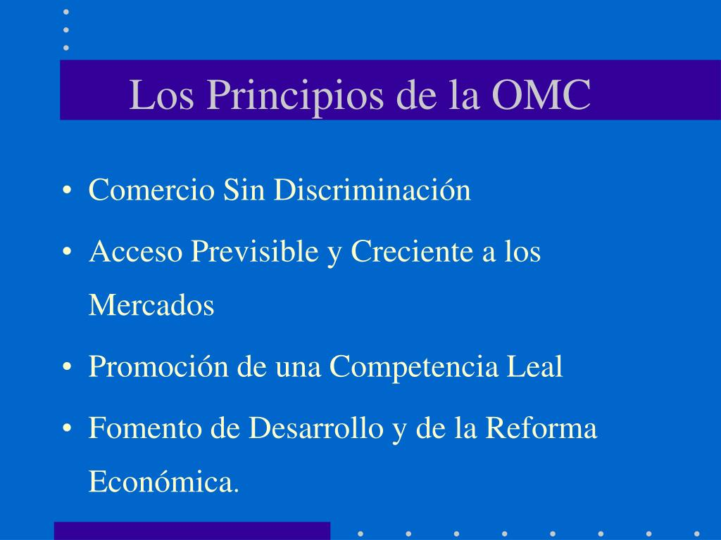 Los Principios de la OMC