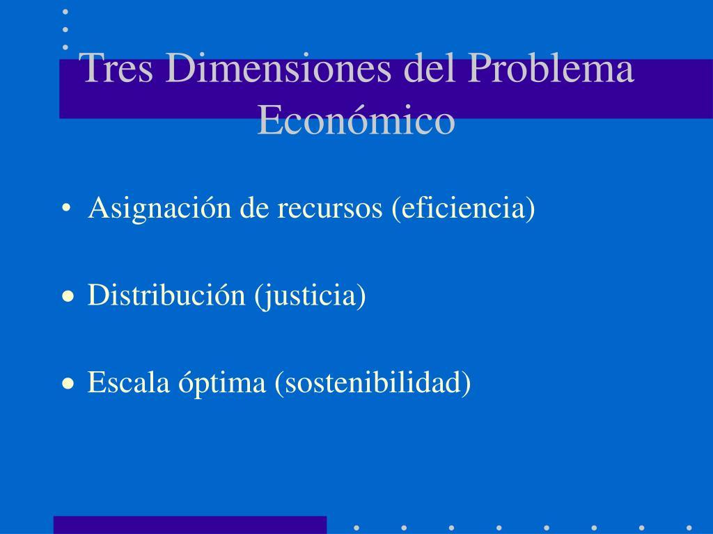 Tres Dimensiones del Problema Económico