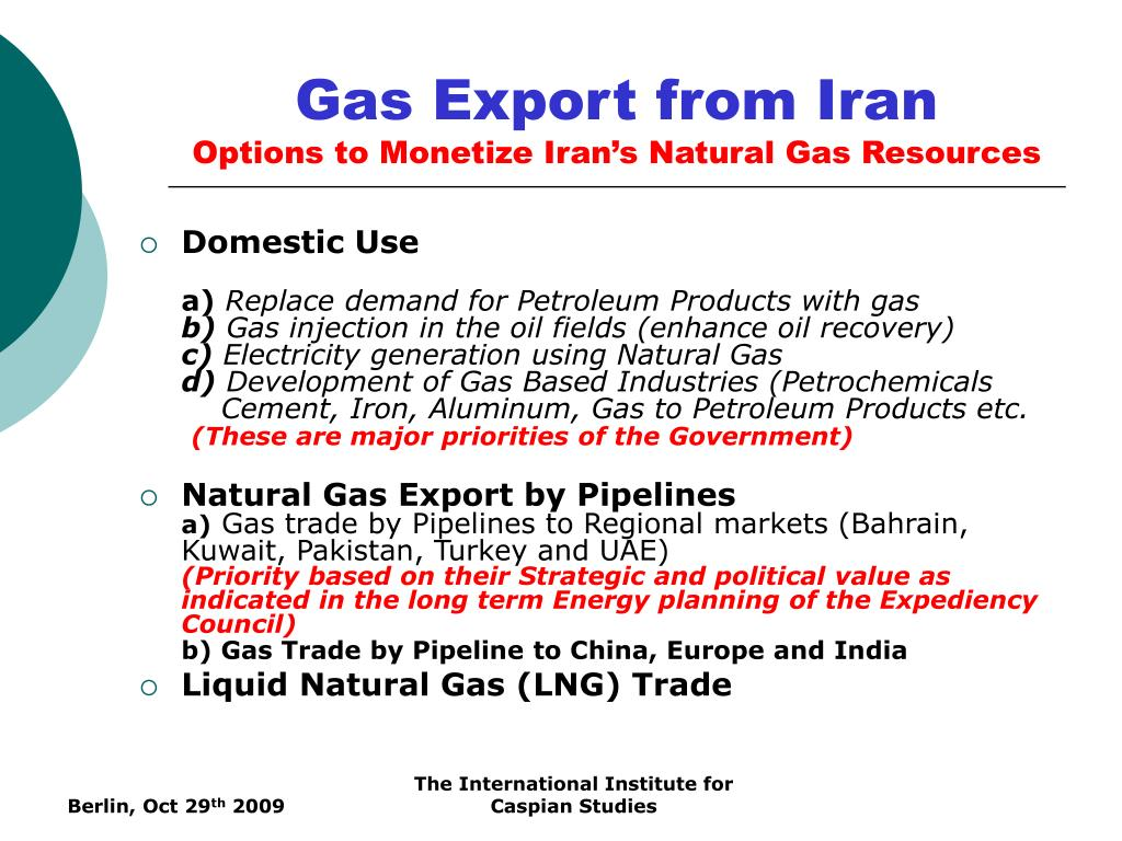 Gas Export from Iran