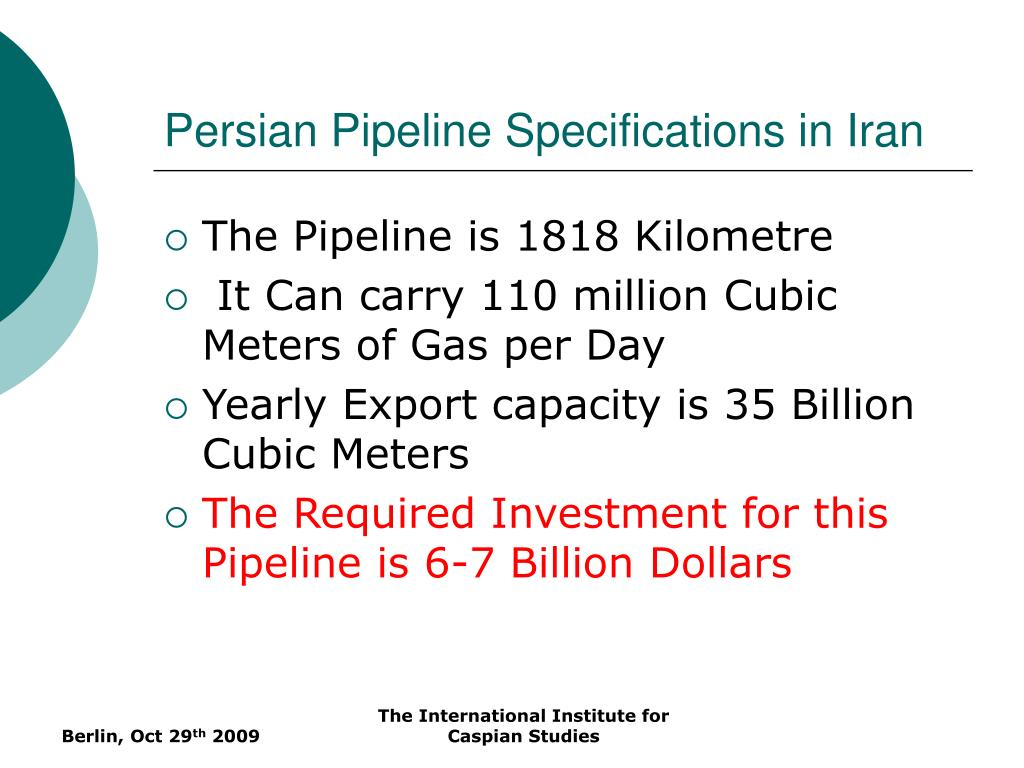 Persian Pipeline Specifications in Iran