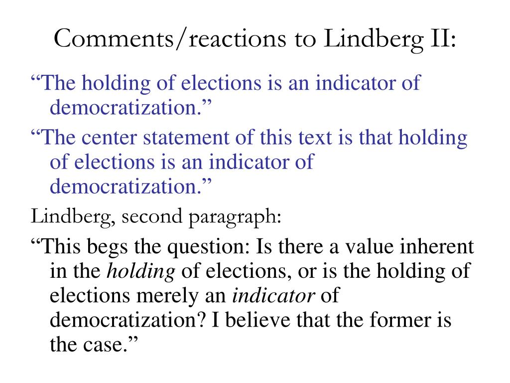 Comments/reactions to Lindberg II: