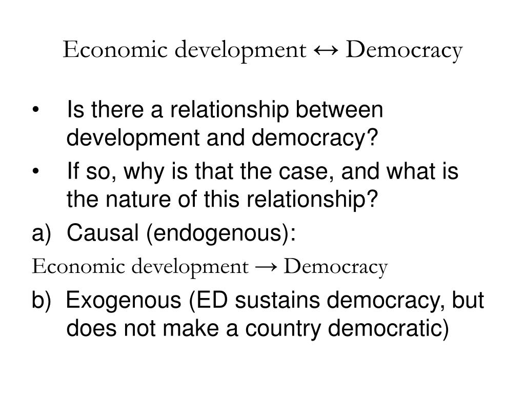 Economic development ↔ Democracy