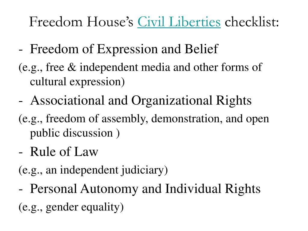 Freedom House's