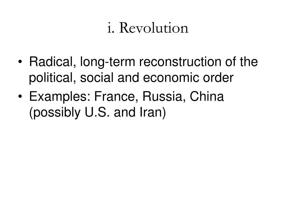 i. Revolution