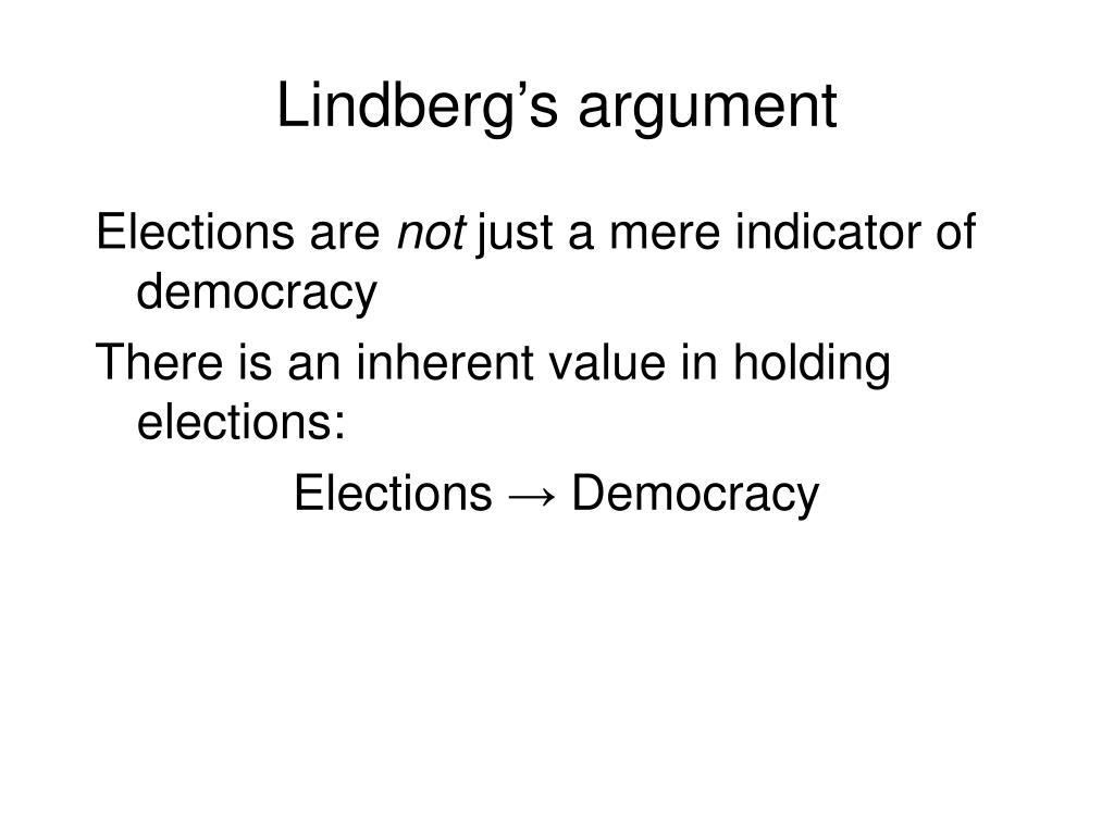 Lindberg's argument