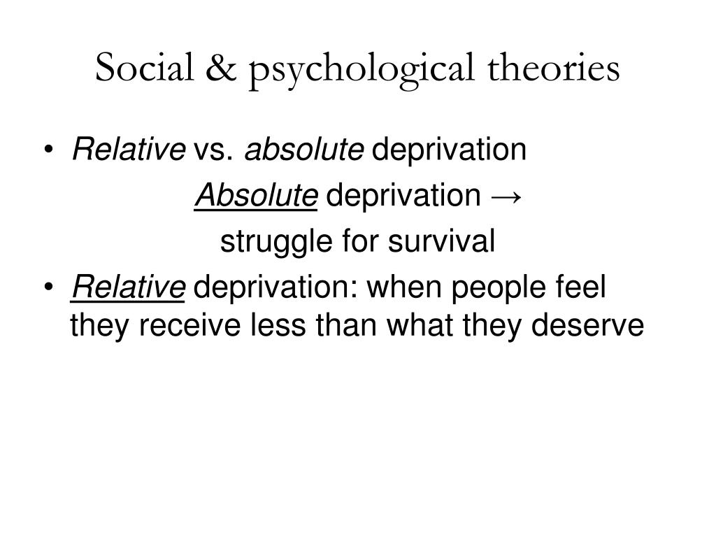 Social & psychological theories