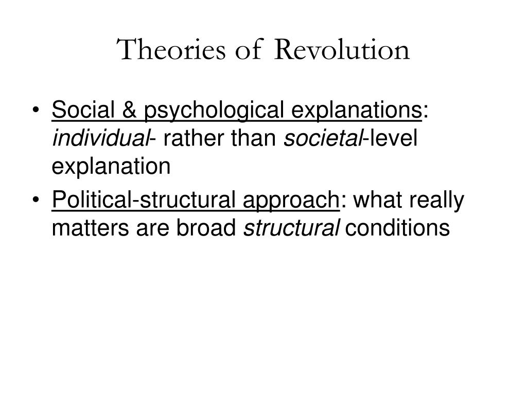 Theories of Revolution