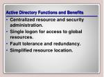 active directory functions and benefits