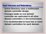 fault tolerance and redundancy