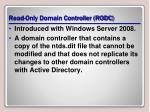 read only domain controller rodc