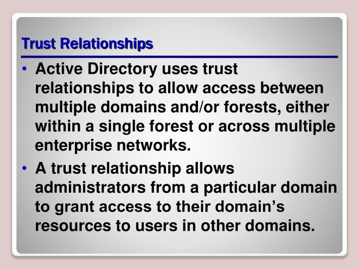 Trust Relationships