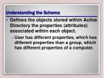 understanding the schema
