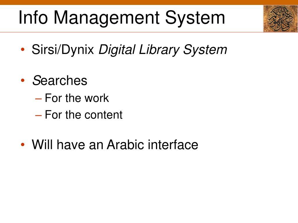 Info Management System