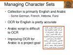 managing character sets
