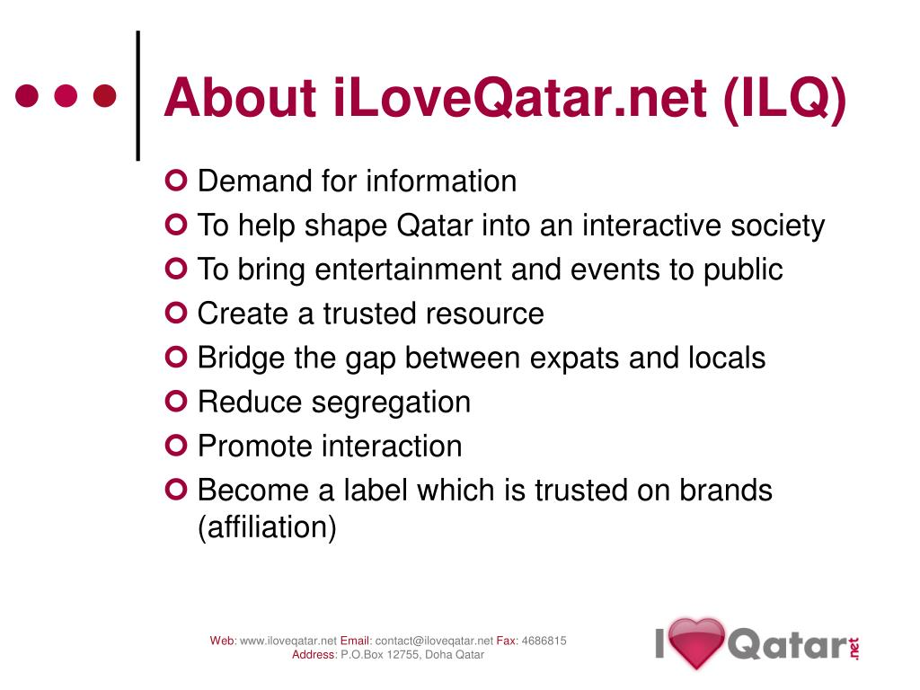 About iLoveQatar.net (ILQ)