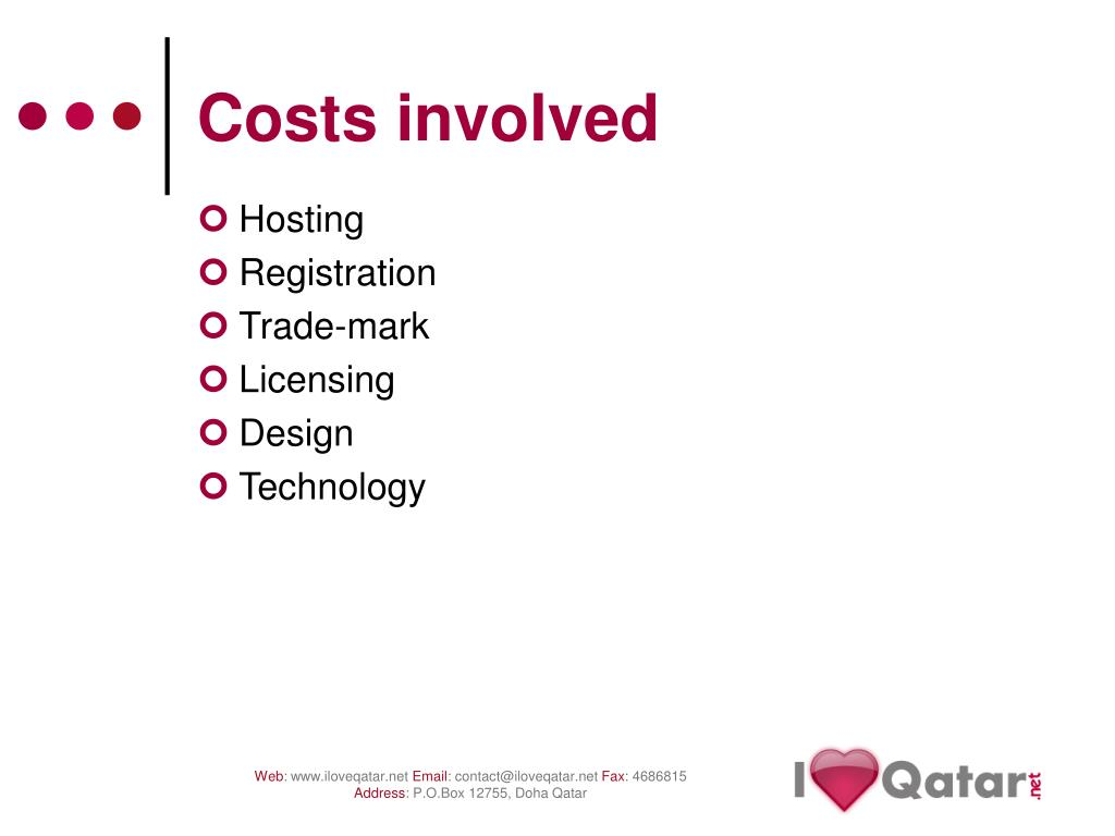 Costs involved