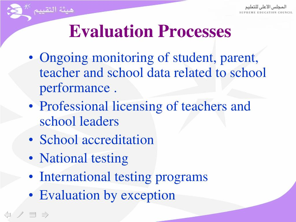 Evaluation Processes