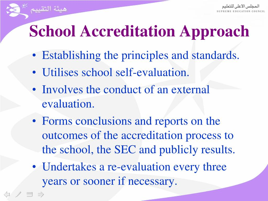 School Accreditation Approach