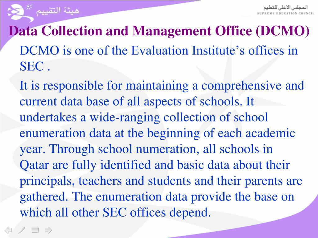 Data Collection and Management Office (DCMO)