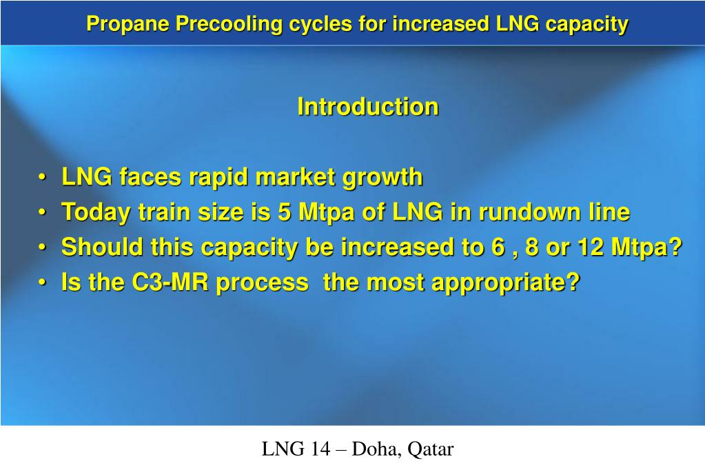 Propane Precooling cycles for increased LNG capacity