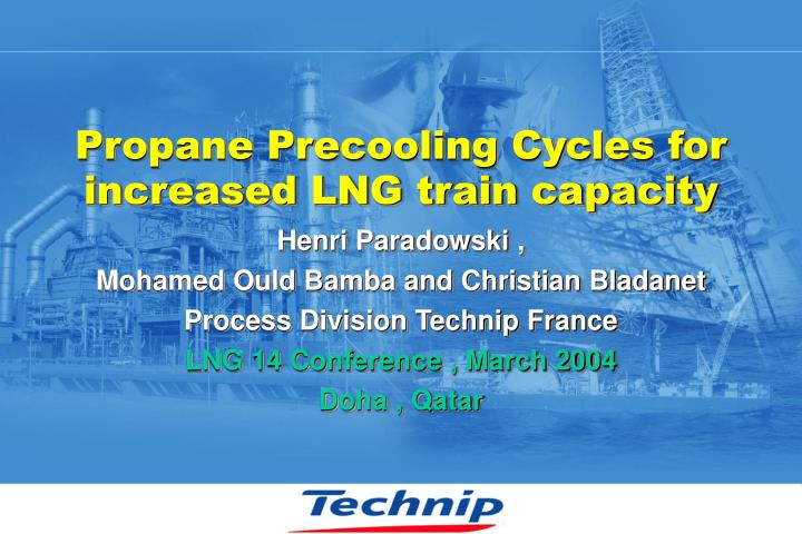 Propane precooling cycles for increased lng train capacity l.jpg