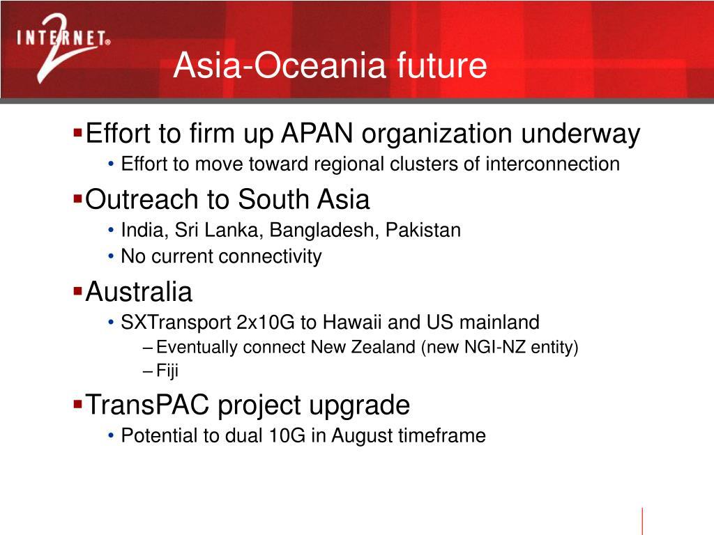 Asia-Oceania future