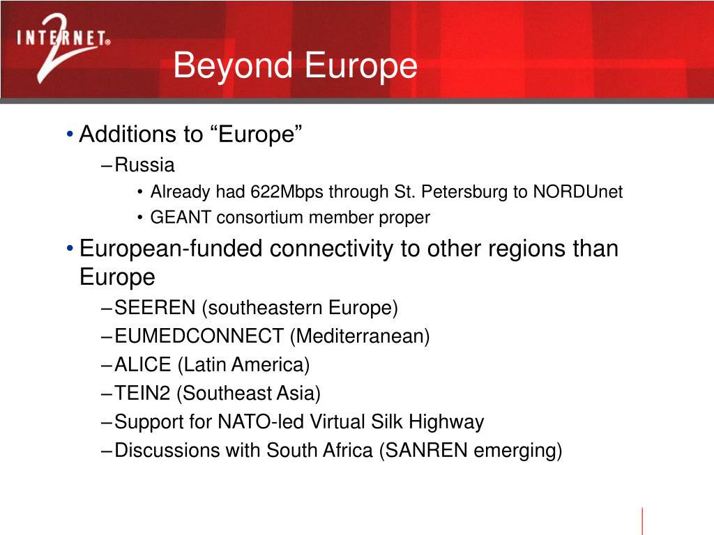 Beyond Europe