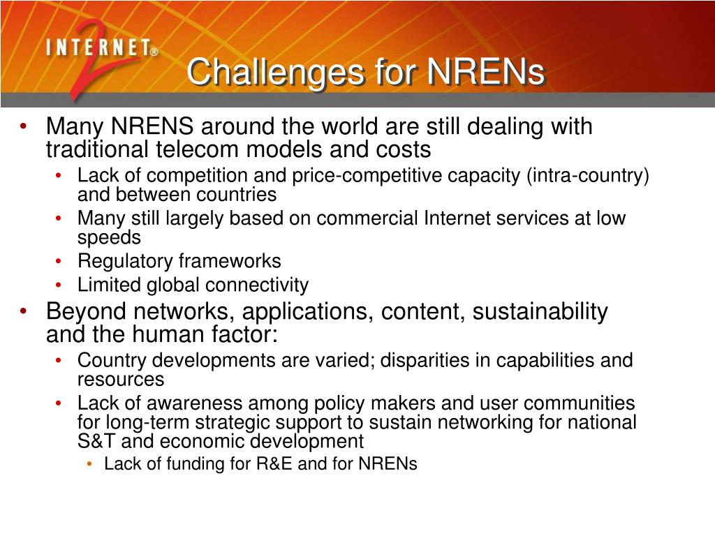Challenges for NRENs