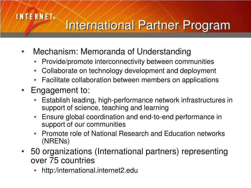 International Partner Program