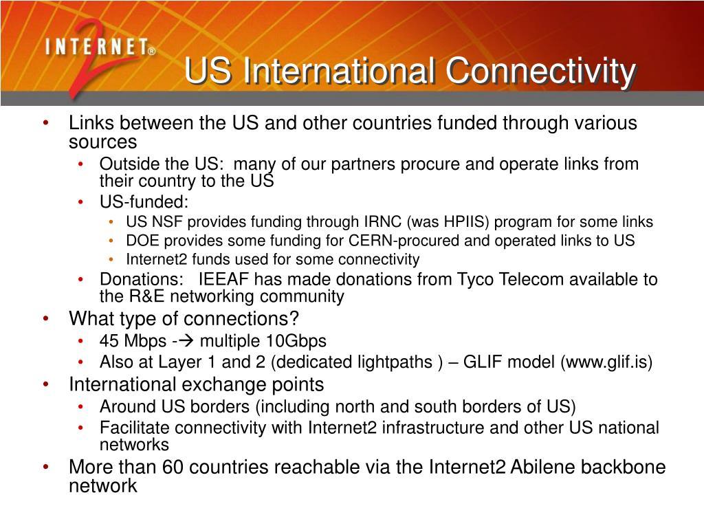 US International Connectivity