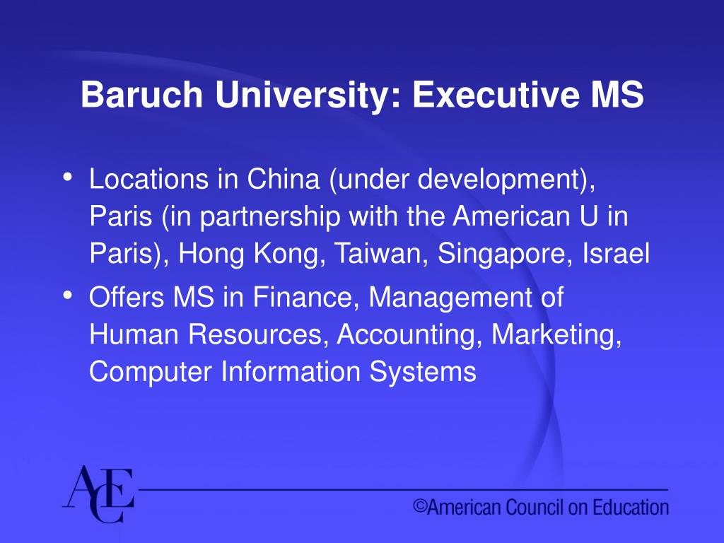 Baruch University: Executive MS